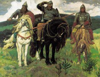 Три богатыря (Репродукция Виктора Васнецова)