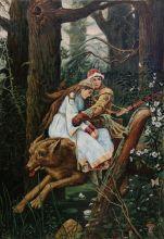 Иван Царевич на сером волке (Репродукция Василия Васнецова)