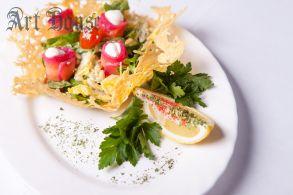 Салат от Шефа со сливочным лососем