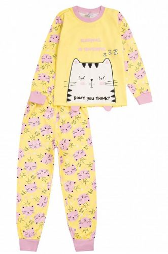 "Пижама детская ""Sleeping Caty"" 3-7 лет желтая"