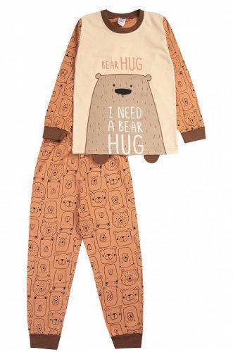 """Пижама детская """"BEAR HUG"""" 3-7 лет коричневый"""