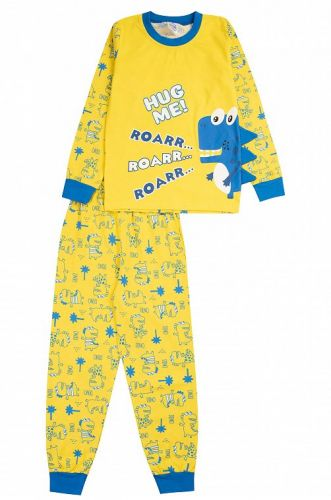 """Пижама детская """"ROAAR"""" 3-7 лет  желтая"""