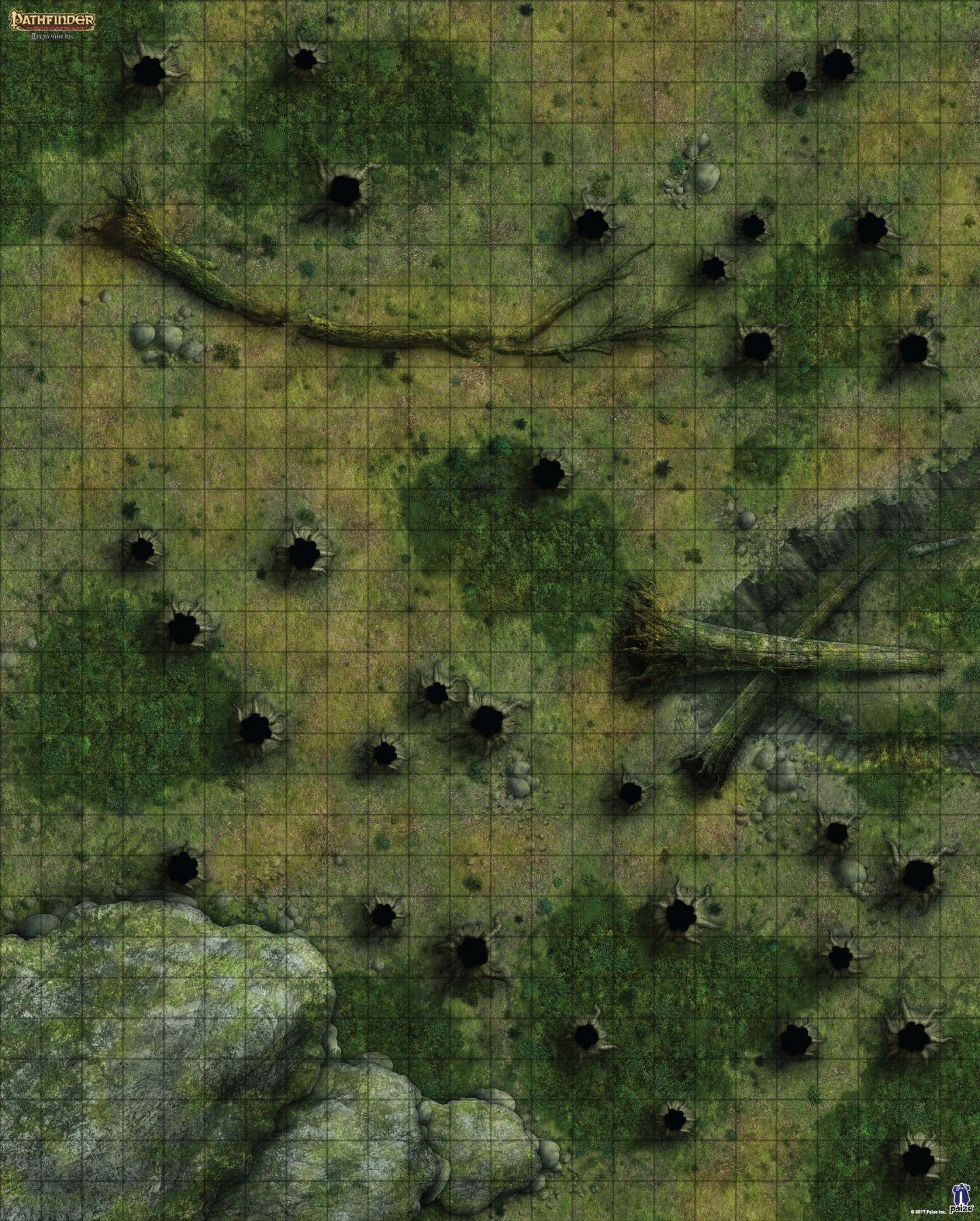 """Pathfinder. Настольная ролевая игра. Игровое поле """"Дремучий лес"""""""