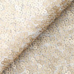 Мягкий фатин с паетками песочный