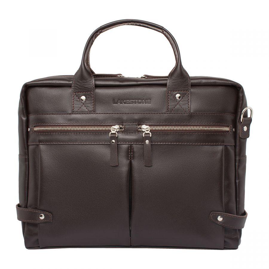 Мужская деловая сумка Lakestone Jacob Brown