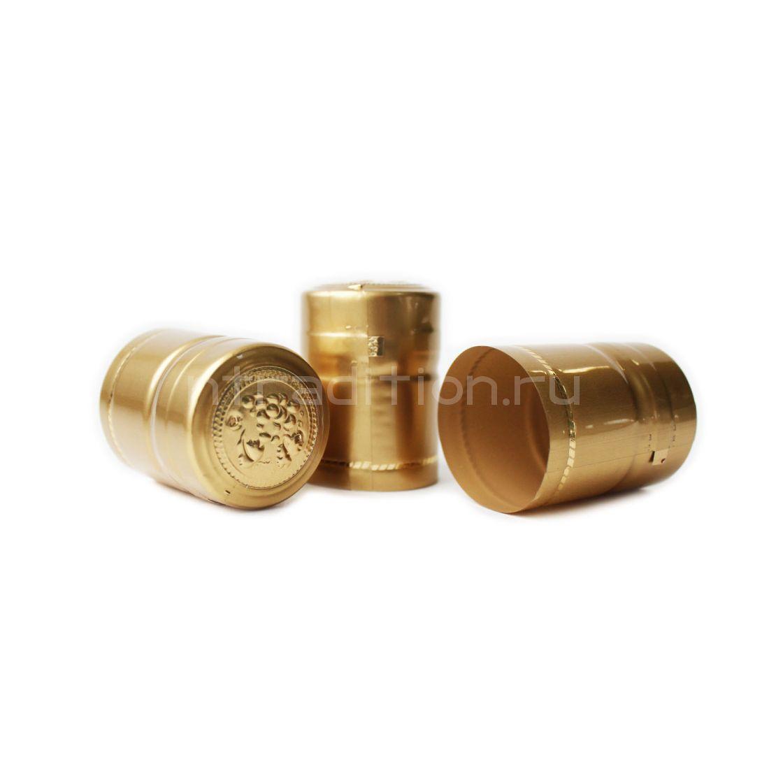 Термоусадочные колпачки 40 мм, 40 шт. (золото)
