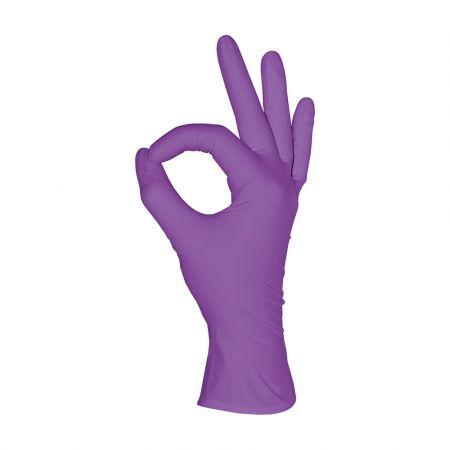 Перчатки нитриловые MediOK, пурпурный, размер XS,S,M,L- 50 пар