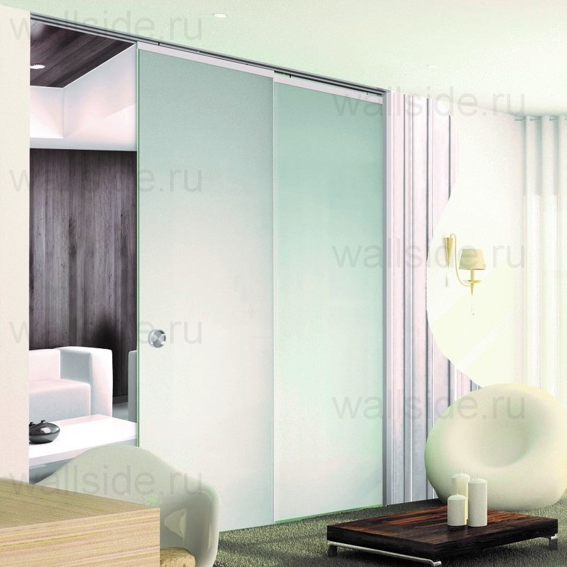 Пенал Open Space Paralelo Glass высотой 2100 мм