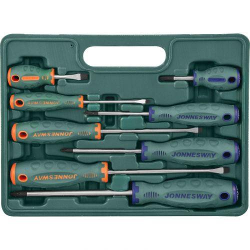 D71PP08S Набор отверток шлиц и крест SL 6,5х38 - 6,5х150, PH#1-3, 8 предметов