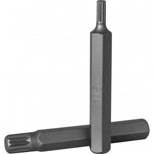 D10M75M06A Бита 10 мм Spline, М6, 75 мм, S2 материал