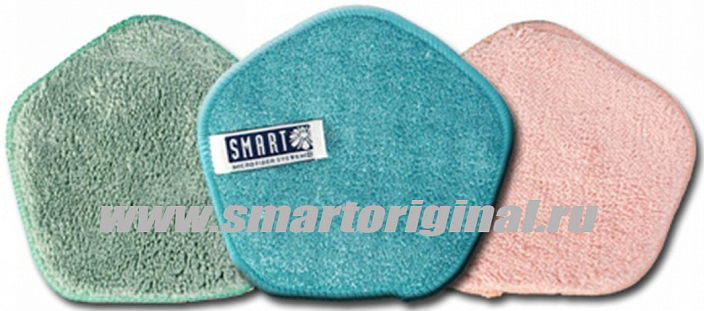 Smart Microfiber Набор губок для мытья посуды Великолепное трио