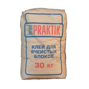 Клей для ячеистых блоков морозостойкий 30кг Bergauf Praktik