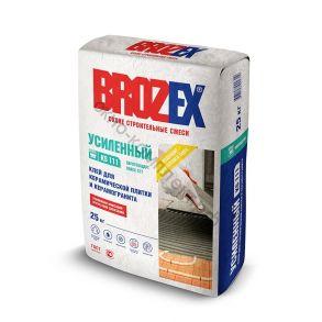 Клей для керамической плитки и керамогранита KS 111 УСИЛЕННЫЙ,Brozex 25кг