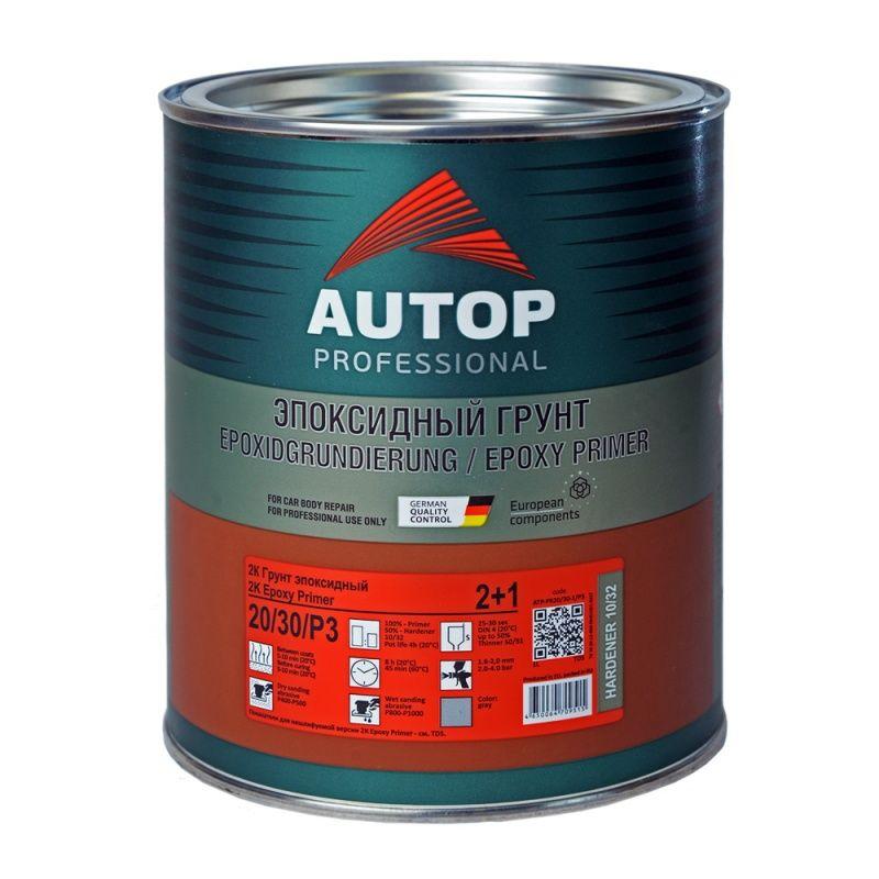 """Autop 2K Primer Epoxy 2:1 Грунт эпоксидный, название цвета """"Серый"""", объем 1л."""