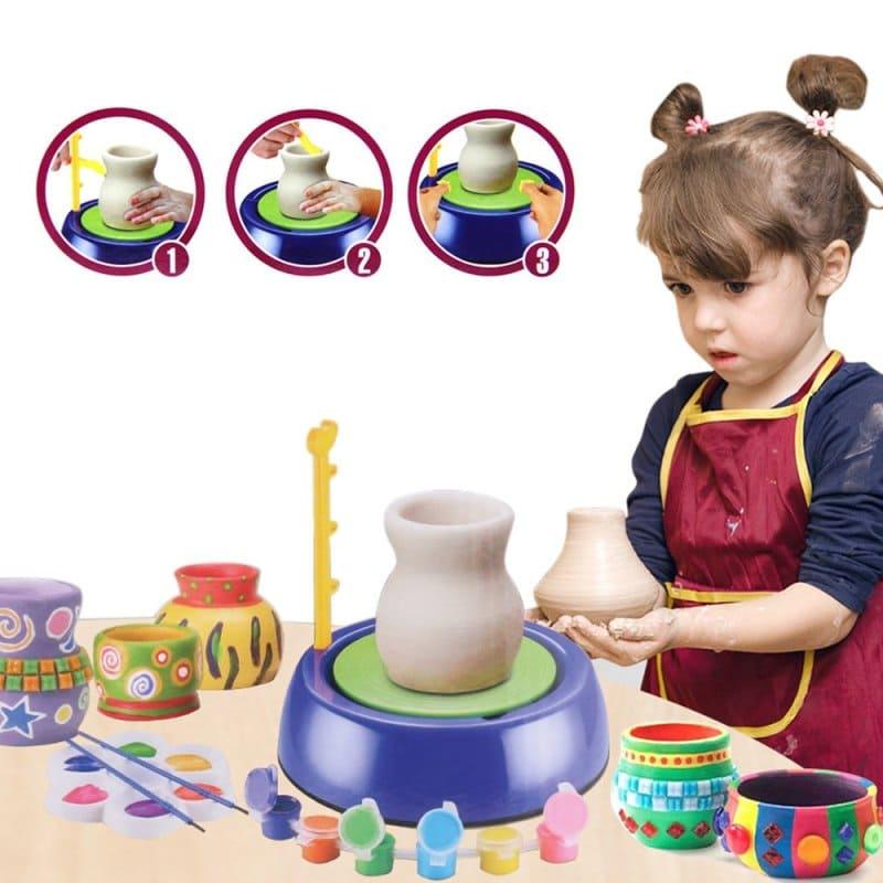 Детский гончарный круг Pottery Wheel, синий