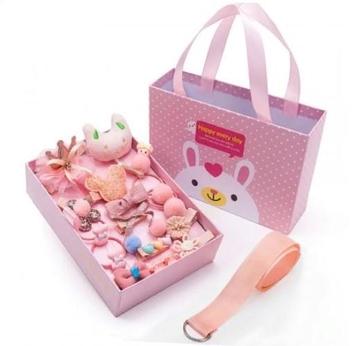 Подарочный набор заколок для девочек, 18 предметов, Цвет Персиковый
