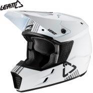 Шлем Leatt GPX 3.5 V20.1, Бело-черный