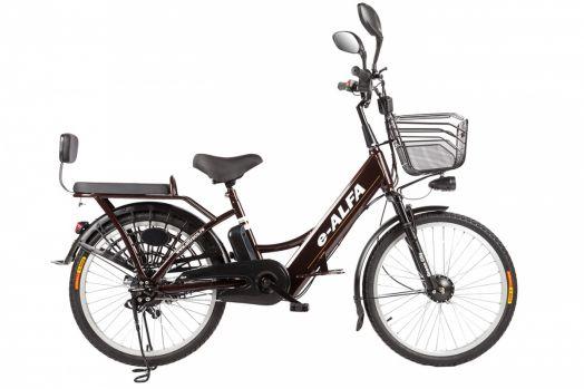 Велогибрид Eltreco e-ALFA Коричневый