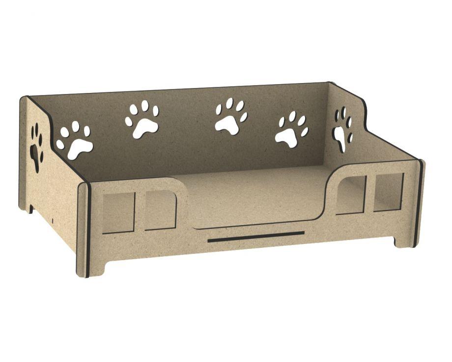Лежанка для собак кроватка с бортиками и лапками