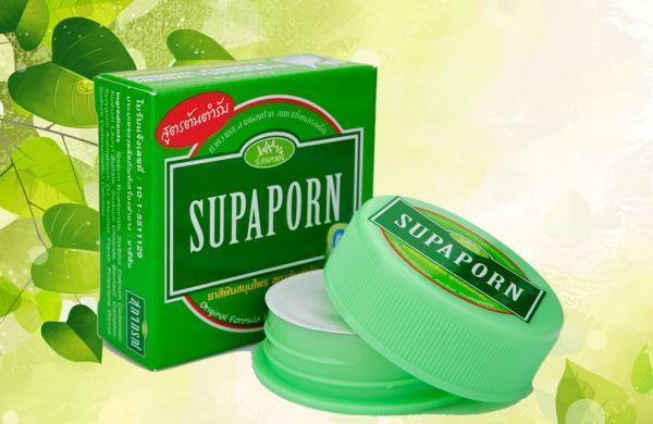 Тайская отбеливающая зубная паста c борнеолом и камфорой Supaporn 25 гр
