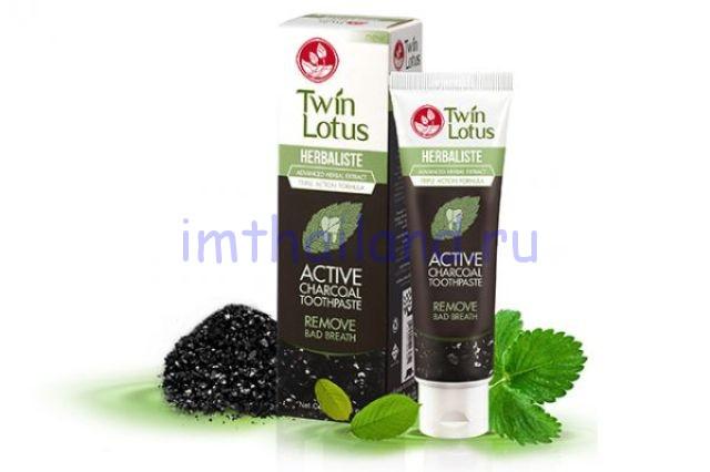 Черная тайская зубная паста Twin Lotus (Твин Лотус) 50 гр