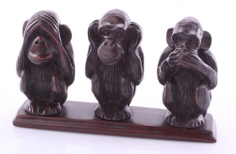 Статуэтка Три обезьяны 1 шт