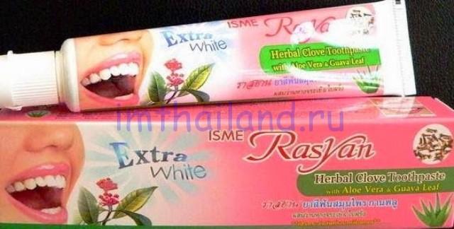 Отбеливающая тайская зубная паста с гвоздикой ISME в тубе 100 гр