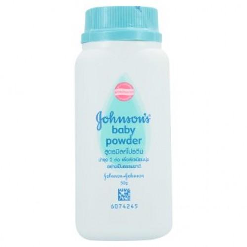 Детская присыпка Молочная Johnson's Milk Protein Baby Powder 50 гр