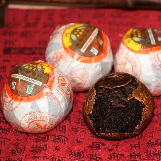 Чай пуэр в мандарине Puer tea Orange 1 шт страна Таиланд