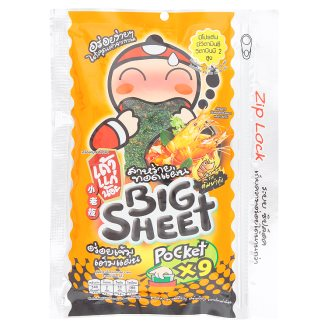 Чипсы из морских водорослей со вкусом Том Ям Tao Kae Noi Tom Yum Kung Flavor Big Sheet Fried Seaweed 31,5 гр