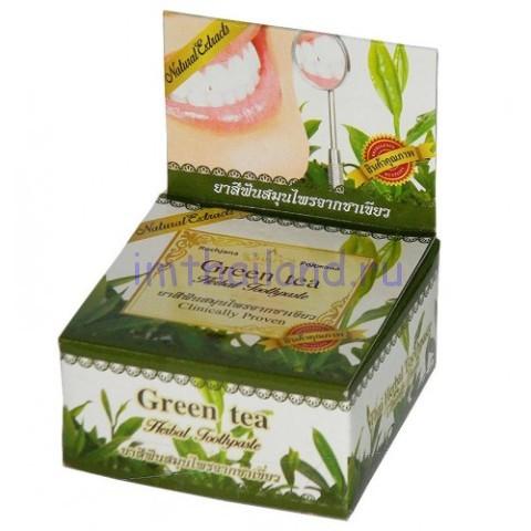Тайская зубная паста антибактериальная Зеленый чай 30 грамм