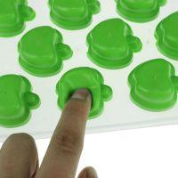 Форма для льда силиконовая Яблоки (цвет зелёный)_3