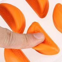 Форма для льда силиконовая Дольки (цвет оранжевый)_4