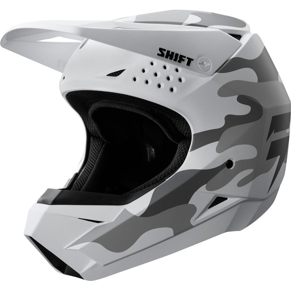 Shift - 2019 Whit3 White Camo шлем, бело-серый