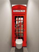 Фотообои в туалет - Телефонная будка магазин Интерьерные наклейки