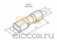 КЛЕММА ПЛОСКАЯ полностью изолированная ( VF 5.5- 250A ) REXANT