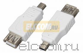 Переходник USB (гн. USB А - mini шт. USB), REXANT