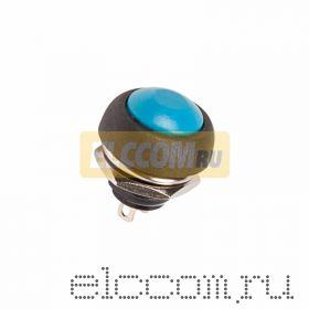 Выключатель-кнопка 250V 1А (2с) (ON)-OFF Б/Фикс синяя Micro (PBS-33В)
