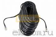 Телефонный удлинитель 7 м черный REXANT