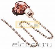 Выключатель для настенного светильника с цепочкой 270 мм, silver REXANT