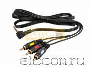 Шнур 3.5мм 4C Plug - 3RCA Plug 1.5M (GOLD) REXANT