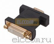 ПЕРЕХОДНИК штекер HD (15 Pin VGA) <--> гнездо DVI-D, пластик, позолоченный REXANT