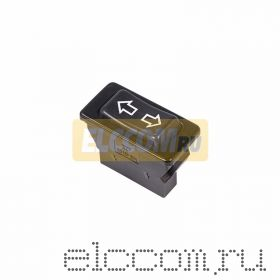 Выключатель (стеклоподъемника) клавишный 12V 20А (5с) (ON)-OFF-(ON) черный (ASW-01)