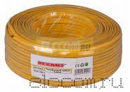 Кабель телефонный 4 жилы 100м желтый (ШТЛП-4) REXANT