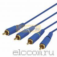 Шнур 4х4 RCA 5 м синий gold REXANT