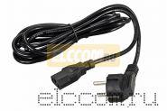 Сетевой шнур Евро 0.75 мм2 3.0м (PVC) (кабель питания с заземлением) REXANT