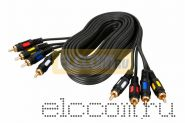 Шнур 4RCA Plug - 4RCA Plug 5М (GOLD) REXANT