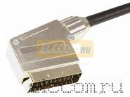Шнур SCART Plug - SCART Plug 21pin 5М (GOLD) - Металл REXANT