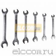Набор ключей рожковых 8-19 мм 6 предметов Rexant