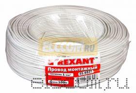 Провод монтажный (автомобильный) 1 мм2 100м белый (ПГВА) REXANT